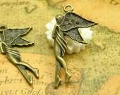20 pcs Antique Bronze Fairy Charms 30x15mm CH0005