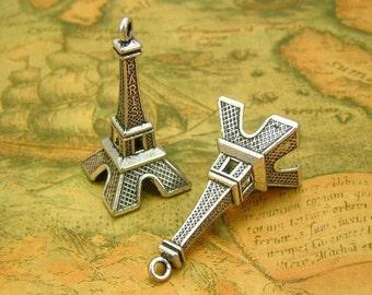 5 pcs Antique Silver Eiffel Tower Charms 47x22mm CH0524