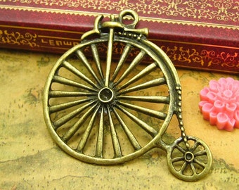 5 pcs Antique Bronze Penny Farthing Charms Bicycle Charms CH0161