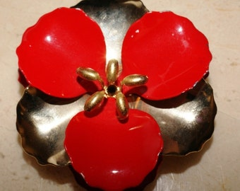 Vintage Flower Brooch-Pin