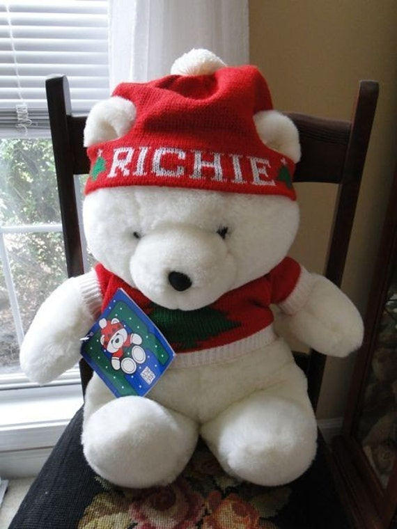 Richie The Bear From Rich's Dept Store 1986 - Mint Condition -Just in Time For Christmas