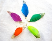 Feather Earrings with Sparkles