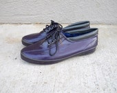 SALE vintage 80s purple waterproof Eddie Bauer duck shoes rain shoes/ womens size 10