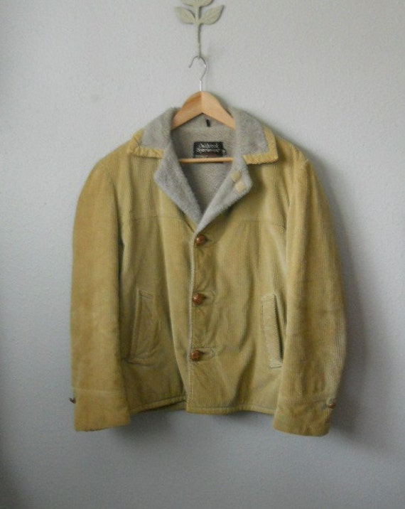 vintage 70s sears corduroy barn jacket / mens medium