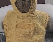My Little Sunshine knit poncho 6 months