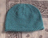 Blue Moon Knit Baby Hat