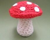 Medium Toadstool - Crochet  Ornament