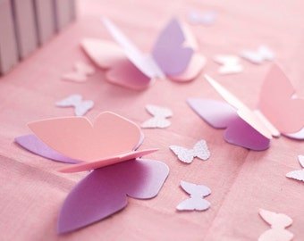 "Butterfly Party Decorations - Personalized & ""Fluttering"" Butterfly Table Sprinkles - Choice of Colors"