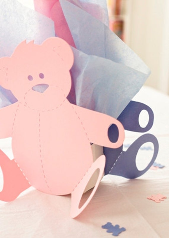 Baby Shower For Twins Teddy Bear Centerpieces With