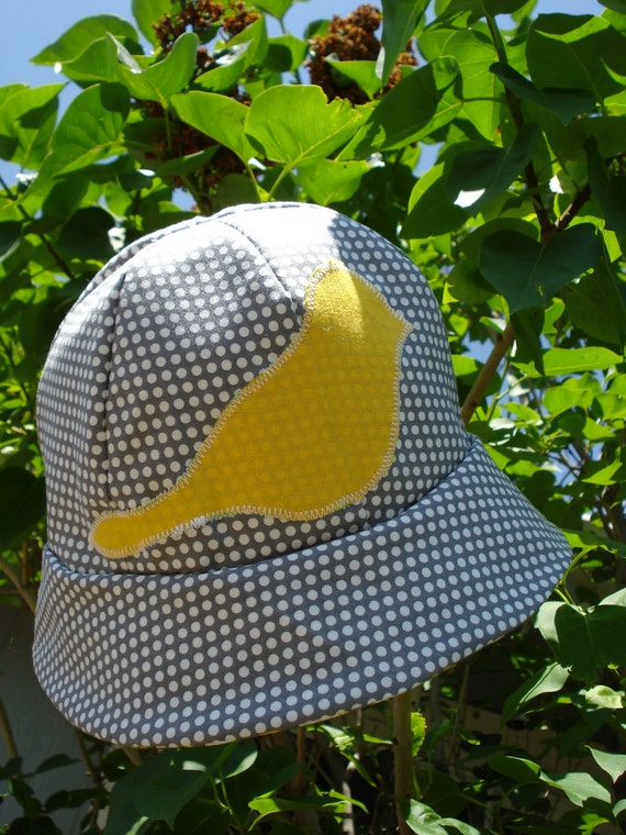 "Stylish Sun Hat -Ready to Ship- Size 6- 12 months (19"" diameter)"