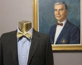 1960s Olive Gray Herringbone Flannel Sack Suit 36 37S Ivy League Mad Men