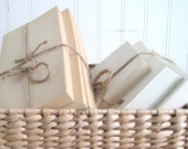 Rustic Book Bundles Bound with Jute. Natural, Trendy AND Thrifty - Bulk Custom Orders Save