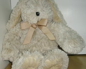 WASHABLE HERBAL BUNNY Hot/Cold Pack Bed Buddy - Lulu, the Lavender Bunny - Lavender-Scented - Beige Supersoft Luxury Minky Plush