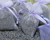 60 ORGANIC Lavender Sachets - 3x4 Bridal Shower / Baby Shower Party Favors, SuperFAsT SHIPPING (Any QtY/COLoR Available)