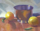 R E S E R V E D  for RCC Silver Lemons - Original Oil Painting