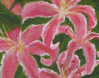 Bea's Lilies : Original Acrylic Painting