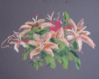 Lilies - Original Pastel Painting