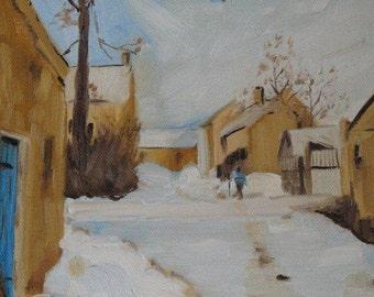 Snowfall - Original Oil Painting