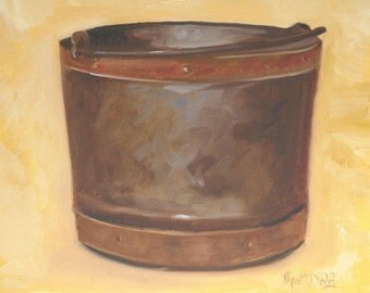 Apple Pail - Original Oil Painting