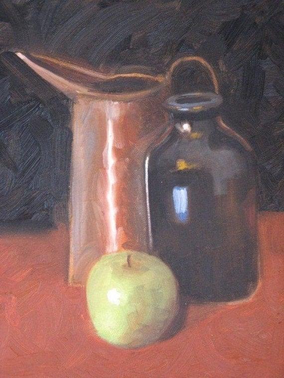 Cider Still Life - Original Oil Painting