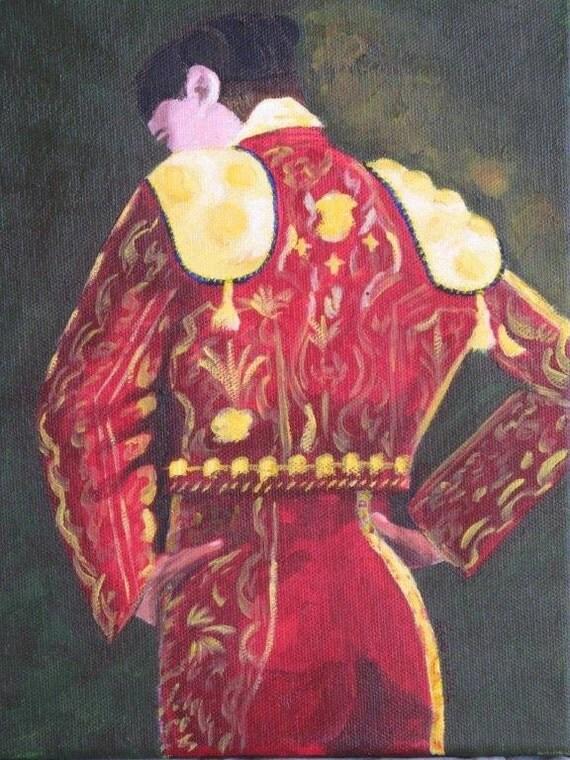 The Matador's Suit of Lights - Original Oil & Acrylic Painting