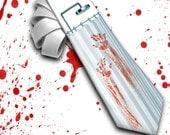 Mens Tie - Psycho or Bloody Shower - necktie, horror movie necktie, halloween necktie, party necktie,spooky necktie