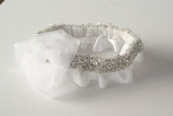 Twinkling White Garter Set for the Bride