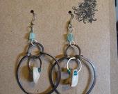 Wire & Shell Earrings