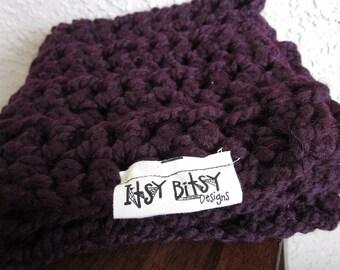 Baby blanket-My itsy bitsy blankie-Eggplant (dark purple)-square baby blanket-baby shower gift