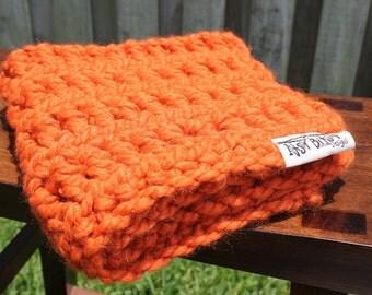 SALE: Baby blanket-Pumpkin-square baby blanket-baby shower gift-halloween