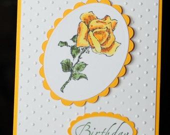 Gate Fold Rose Birthday Card