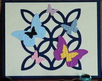 Butterfly 'n Lattice Get Well Pop Up Card