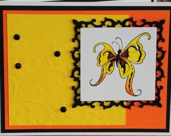 Yellow Butterfly Blank All Occasion Card