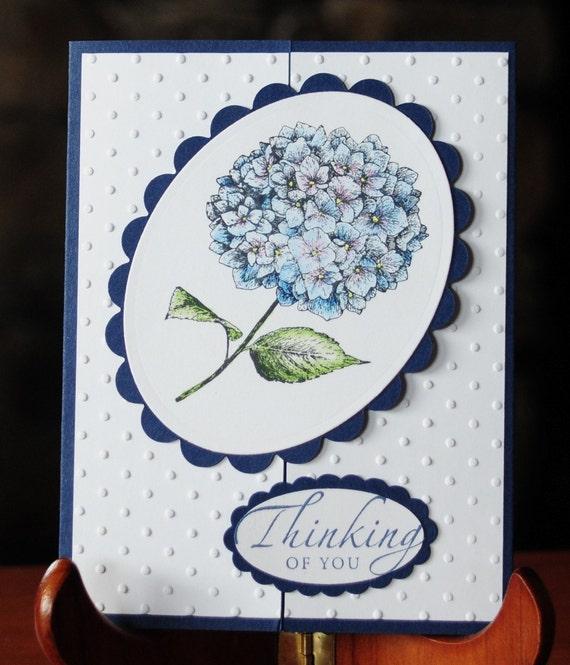 Thinking of You Hydrangea Gate Fold Card