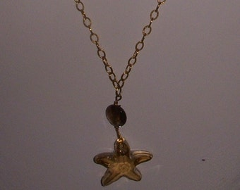 Swarovski Gold Starfish Necklace