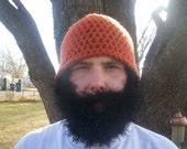 CUSTOM Bearded hat you choose hat and beard color