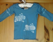 Light Blue Infant Lap Sleeve Bunny T-Shirt