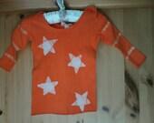 Bright Orange Infant Lap Sleeve Star T-Shirt