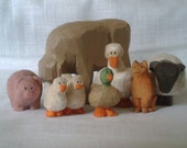 Farm Animal Collection Hand Carved Wood