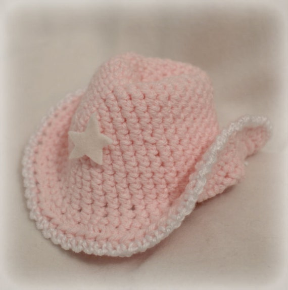 Items similar to Crocheted Baby Hat, Cowboy Hat, Knitted ...