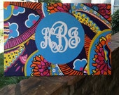 "24x36"" Lilly Pulitzer Monogram Canvas"