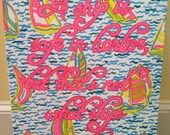 """18x24"""" Lilly Pulitzer Inspired Painting (quote or monogram available)"""