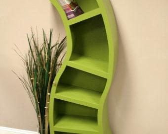 Free Shipping/Handmade 6FT curved bookshelf,choose color below