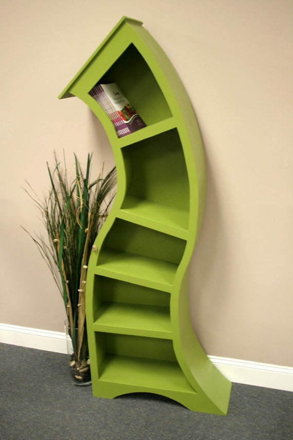 Free Shipping/Handmade 6FT curved bookshelf,choose color below