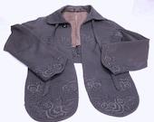 Vintage Edwardian era black bolero jacket Gibson Girl  1910 1919