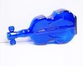 VINTAGE Wheaton violin cobalt blue glass