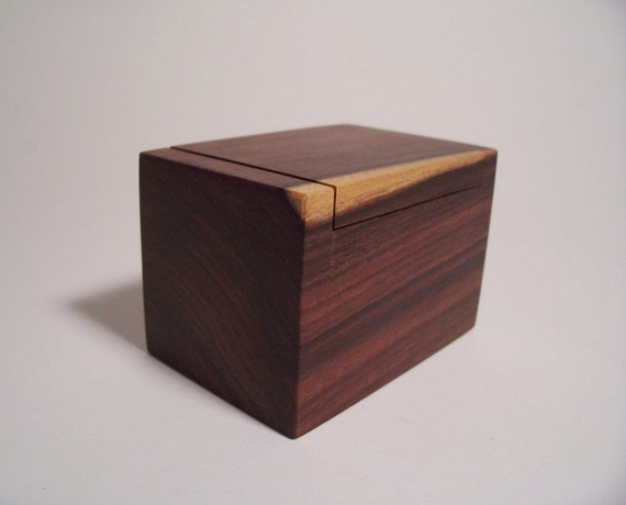 Small Bolivian Rosewood Jewelry / Trinket Box