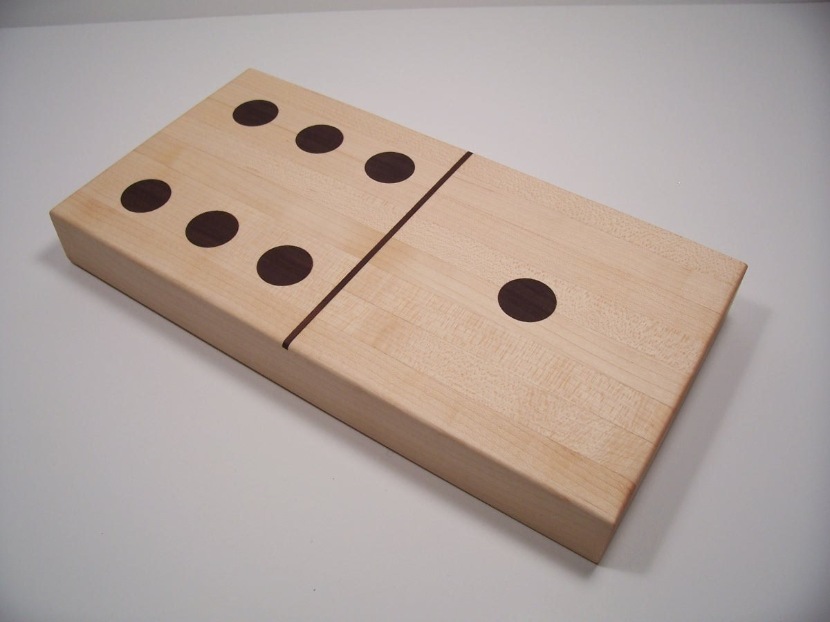 Solid Wood Domino Cutting Board Chopping Block Made Of Maple
