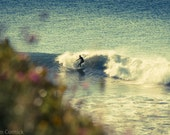 """Surfer on a wave at Lawrencetown Beach 10"""" x 15"""" photograph"""