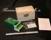 Miniature Tooth Fairy Kit...Green Sparkle... Unique, Customizable, Mini Ooak Treasure...